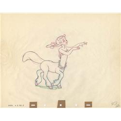 Melinda Centaurette original production drawing from Fantasia