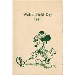 Walt's Field Day program and inter-office memo