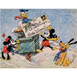 Walt Disney Studio Christmas Card for 1936