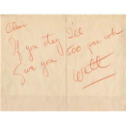 Walt Disney signed and inscribed letter to Clair Weeks 1956