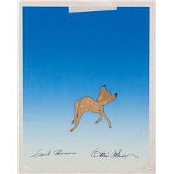 Original production cel from Bambi signed by Frank Thomas and Ollie Johnson