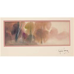 Tyrus Wong original concept painting from Bambi