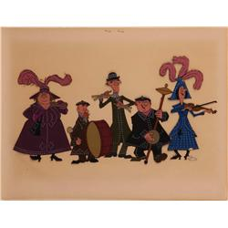 Mary Poppins Pearly Band production cel 1964