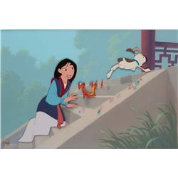 Mulan original production background with studio recreated cel