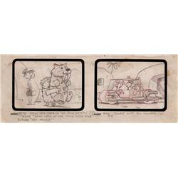 "The Flintstones ""The Snorkasauras Hunt"" early storyboard drawing"