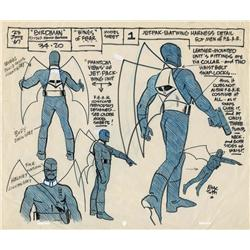 Alex Toth original model sheet from Birdman