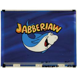 Jabberjaw main title final scene production cel and background