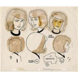 Alex Toth original production model sheet from Fantastic Four