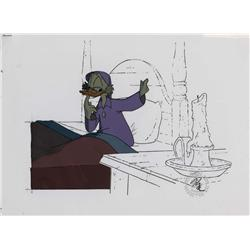 Scrooge McDuck production cel from Mickey's Christmas Carol