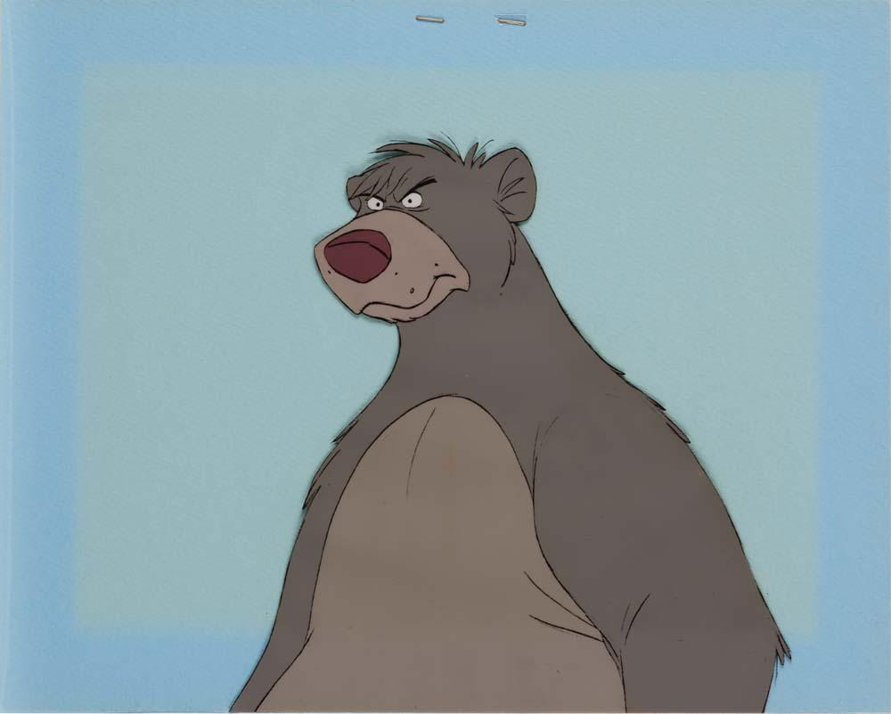 Original Production Cel Of Baloo The Bear From The Jungle Book