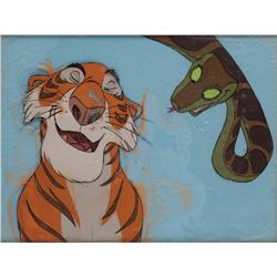 Original production cel of Shere Khan and Kaa from The Jungle Book