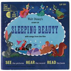 "Sleeping Beauty illustration painting for the bk Walt Disney's Story of Sleeping Beauty w/ 7"" record"