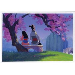 Mulan background color key painting