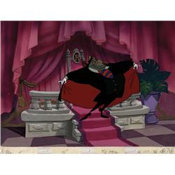 Ratigan production cel with original background from The Great Mouse Detective