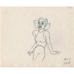 Joan Crawford original production drawing from The Autograph Hound