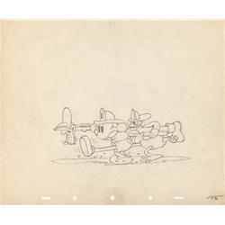 Mickey's Fire Brigade original production drawing