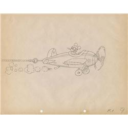 The Mail Pilot original production drawing