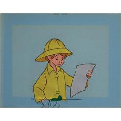 Christopher Robin original production cel from Winnie the Pooh and the Blustery Day