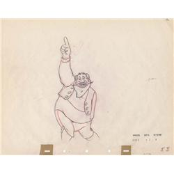 Stromboli original production drawing from Pinocchio