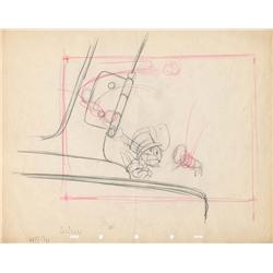 Jiminy Cricket original production drawing from Pinocchio