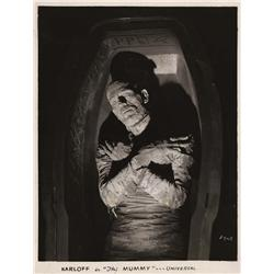 Boris Karloff portrait from The Mummy