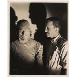 Boris Karloff and Jack Pierce portrait from The Mummy