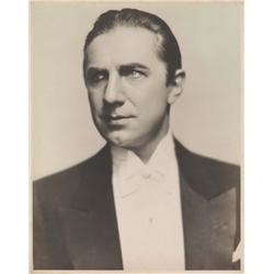 "Oversize portrait of Bela Lugosi as ""Count Dracula"" from Dracula from his personal collection"