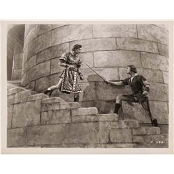 Pair of Errol Flynn and Basil Rathbone portraits from The Adventures of Robin Hood