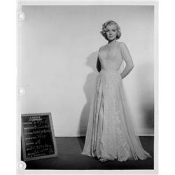 How to Marry a Millionaire original Marilyn Monroe wardrobe test photo