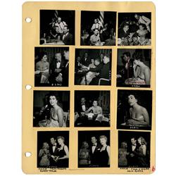 36 Earl Leaf ctct proof photos of Elizabeth Taylor & othr stars frm awards banquets in 1950s & 1960s