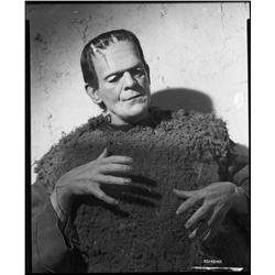 Boris Karloff camera negative from Son of Frankenstein