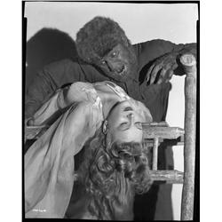 Lon Chaney, Jr. and Evelyn Ankers camera negative from The Wolf Man