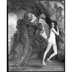 Gill-Man with Julia Adams camera negative from Creature from the Black Lagoon