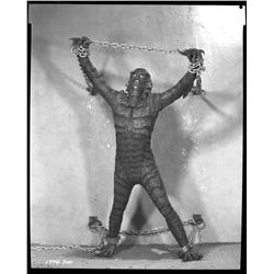 Gill-Man camera negative from Revenge of the Creature by Scotty Welbourne