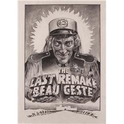 Original artwork maquette of poster design for The Last Remake of Beau Geste