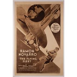 The Flying Fleet original 1929 rotogravure style art-deco one-sheet poster
