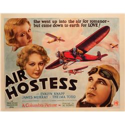 "Air Hostess (1933) original 22"" x 28"" half-sheet poster"