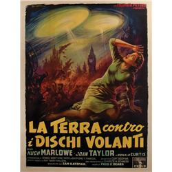 Earth vs. the Flying Saucers original Italian 4-Folio poster by Anselmo Ballester