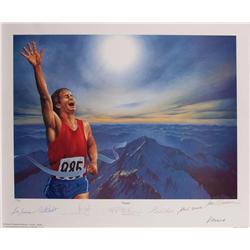 """""""Victory"""" litho sgnd by Muhammad Ali, Neil Armstrong, Walter Cronkite, Hank Aaron, etc"""