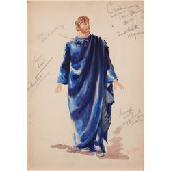 Vera West costume sketch for Thomas Gomez from Night in Paradise