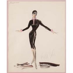 Edith Head costume sketch for Zizi Jeanmaire from Anything Goes