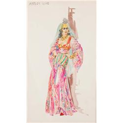 Marjorie Best costume sketch from The Greatest Story Ever Told