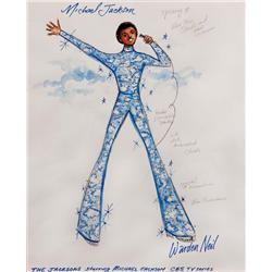 Warden Neil-Michael Jackson costume sketch for The Jacksons TV series