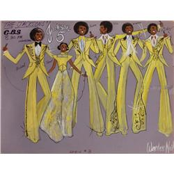 Warden Neil costume sketch of The Jackson Five plus Janet for The Jacksons TV series
