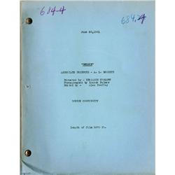 Goldie original 1931 screen continuity script for early Jean Harlow role