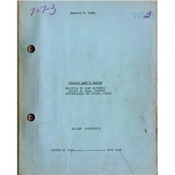Charlie Chan's Chance original 1932 screen continuity script for lost early Chan title