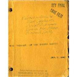 The Treasure of the Sierra Madre arch of orig 1947 shtng docs