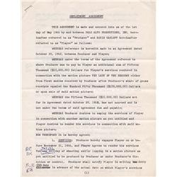 Boris Karloff and Roger Corman signed contract for Targets