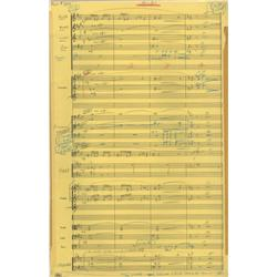 George Greeley autograph manuscript orchestral score for My Favorite Martian