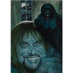 "Original Tom Wright screen-used painting from the Night Gallery episode ""Quoth the Raven"""